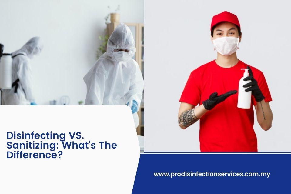 Disinfecting Vs Sanitizing