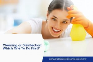 Cleaning or Disinfection: Which One To Do First?