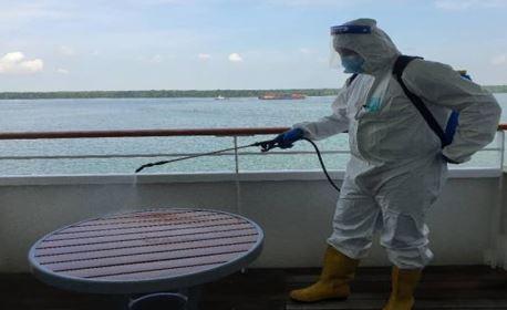 Disinfecting through Pressure Spraying